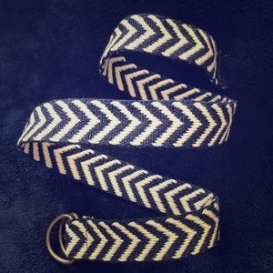 Other - ⚡️SALE⚡️Kid's Woven D-Ring Belt- Navy Blue & White